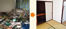 名古屋市緑区にて2階建てアパートの特殊清掃