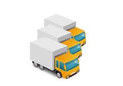 エリア最大級のトラック稼働数