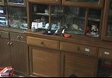 食器棚と食器の回収