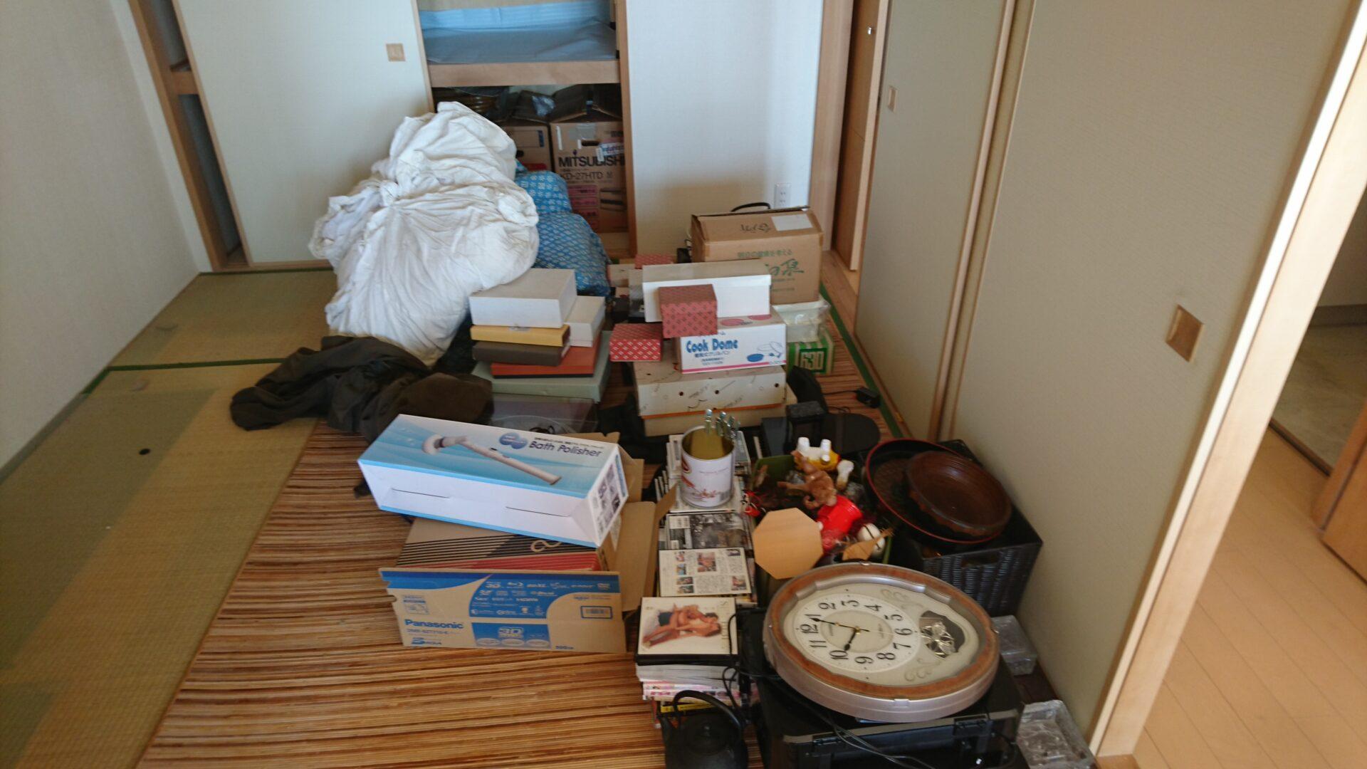 古い贈答品や布団の処分