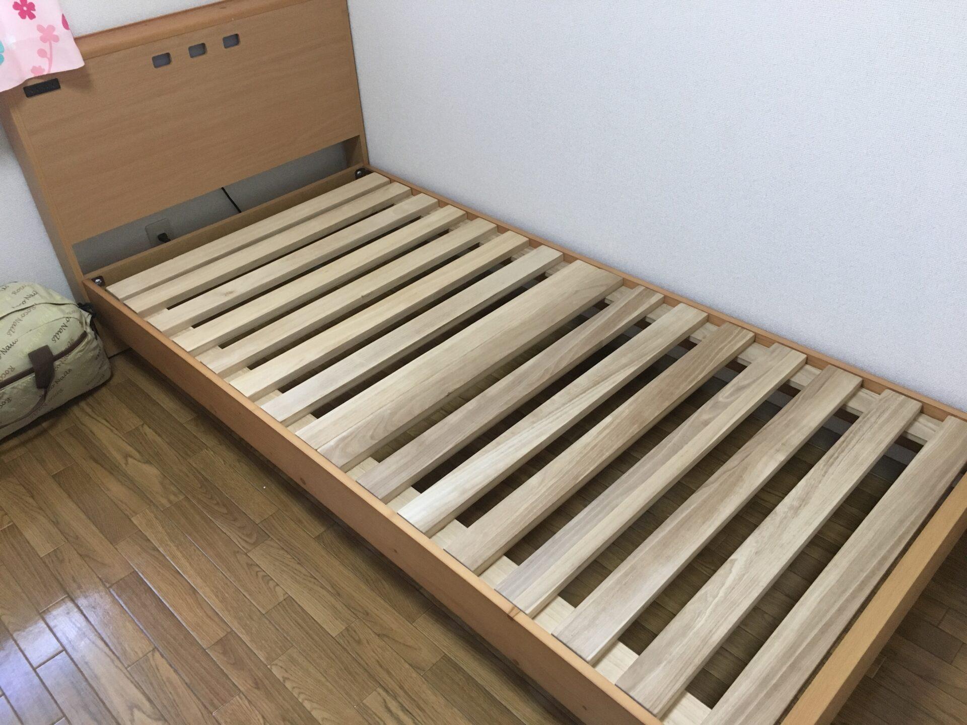 シングルベッド枠の処分