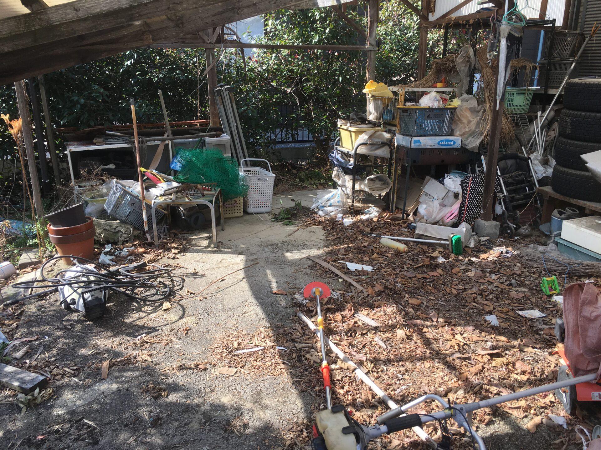 庭にある小物類の出張回収