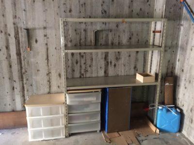 重量棚、衣装ケースなどの回収