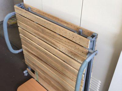 折ベッドの回収