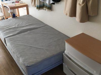 シングルベッドとチェストの出張回収